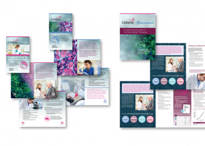Cellaria Trifold and Digest Sized Brochures